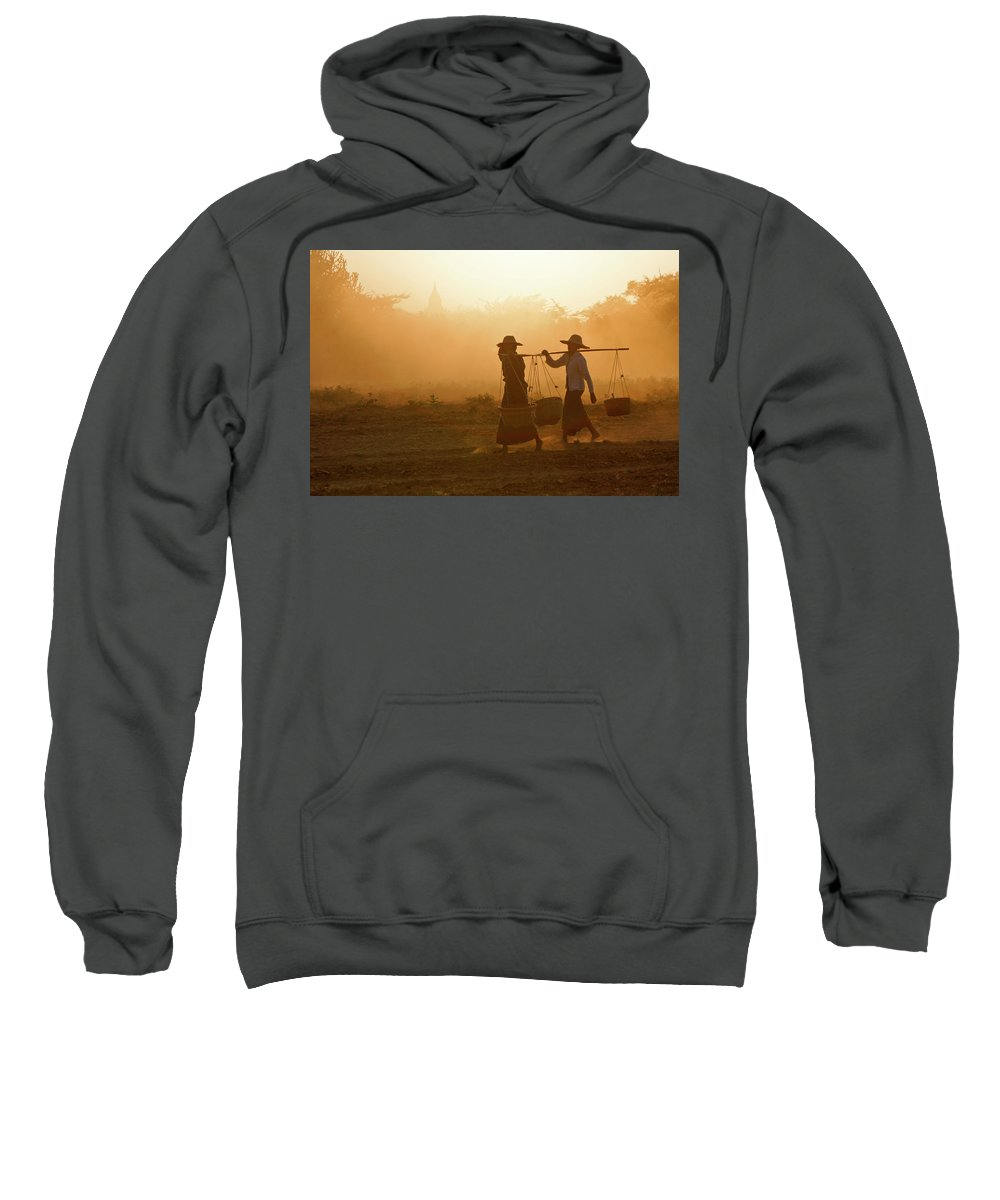 Asia Sweatshirt featuring the photograph Going Home At Sunset by Michele Burgess