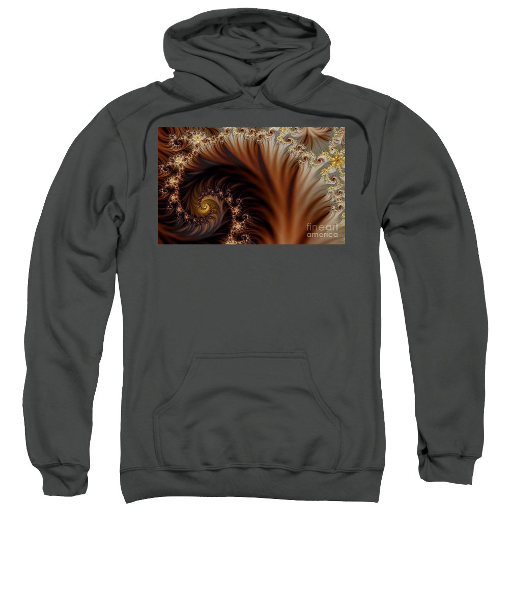 Clay Sweatshirt featuring the digital art Gold In Them Hills by Clayton Bruster