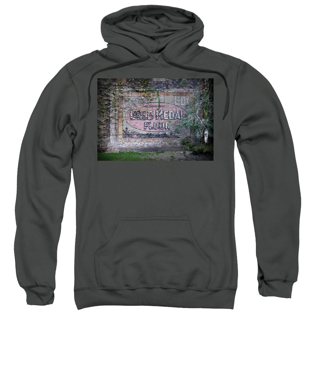 Gold Medal Flour Sweatshirt featuring the photograph Gold Medal Flour by Tim Nyberg