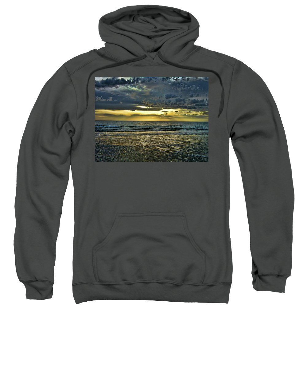 Clouds Sweatshirt featuring the photograph Gold Skies by Douglas Barnard