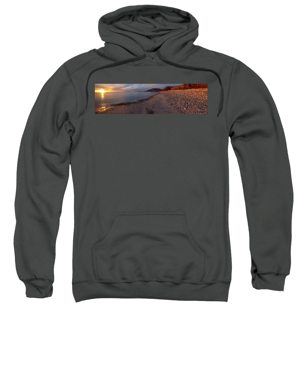 Panorama Sweatshirt featuring the photograph Golden Beach by Doug Gibbons