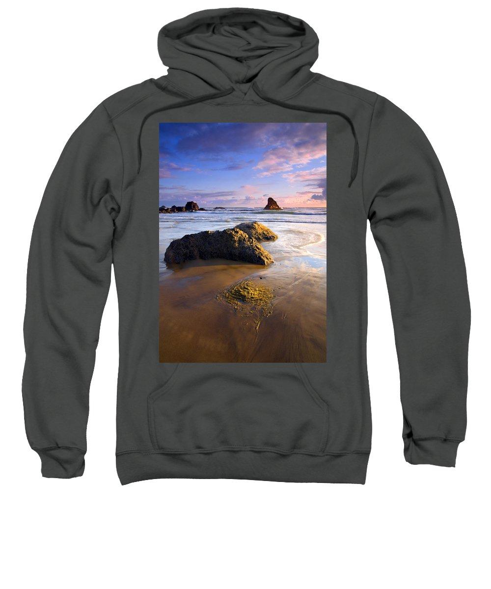 Beach Sweatshirt featuring the photograph Golden Coast by Mike Dawson