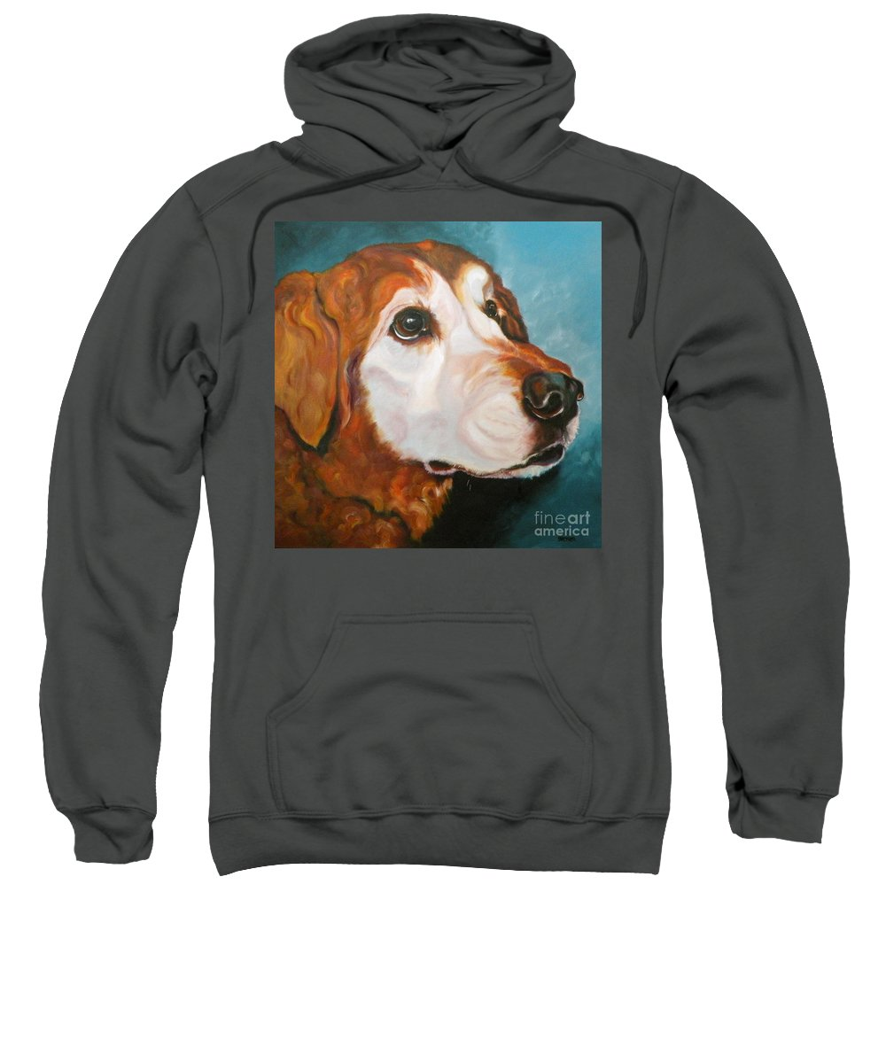 Dogs Sweatshirt featuring the painting Golden Grandpa by Susan A Becker