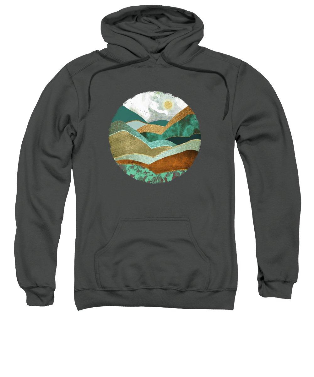 Hills Sweatshirt featuring the digital art Golden Hills by Spacefrog Designs