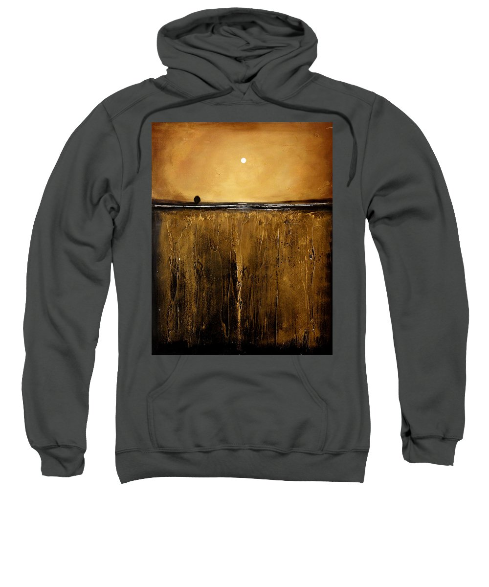 Minimalist Sweatshirt featuring the painting Golden Inspirations by Toni Grote