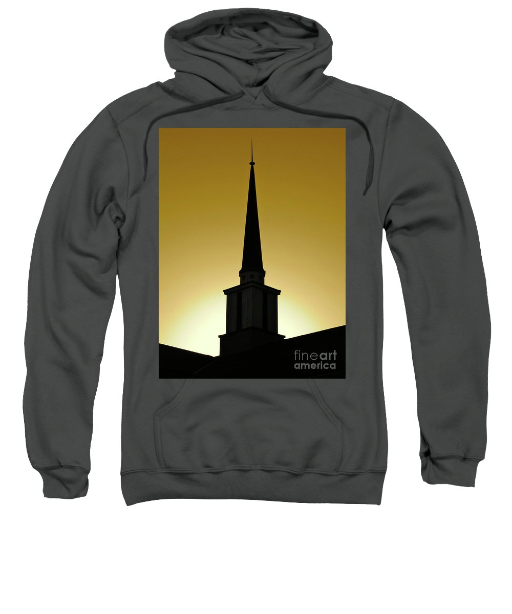 Cml Brown Sweatshirt featuring the photograph Golden Sky Steeple by CML Brown