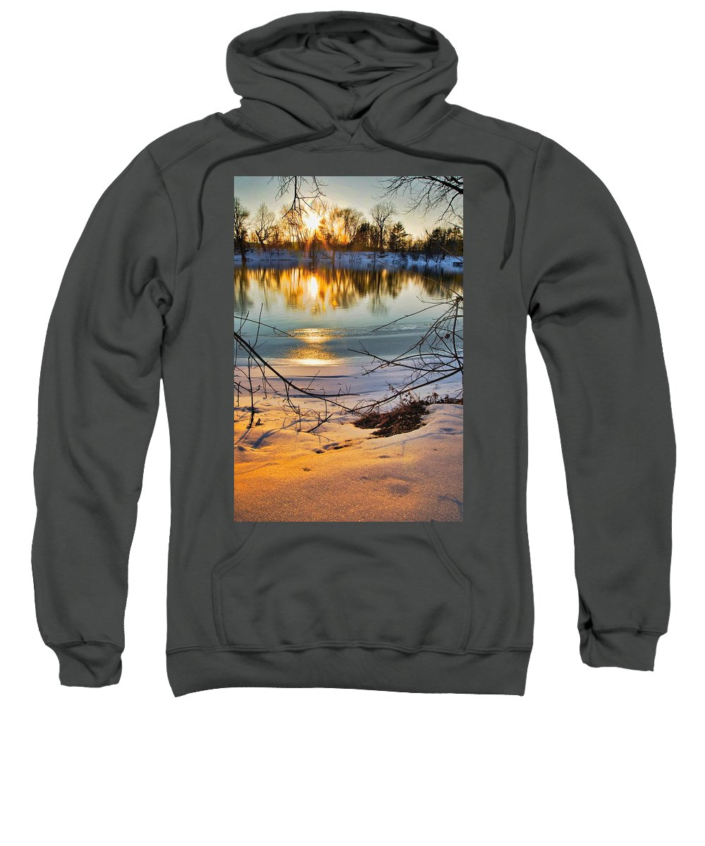 Snow Sweatshirt featuring the photograph Golden Snow by Robert Pearson