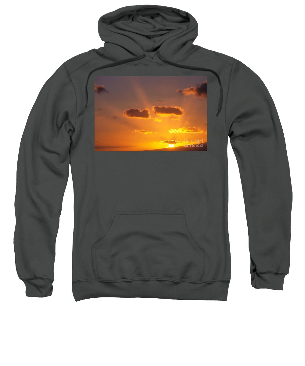 C1726 Sweatshirt featuring the photograph Golden Sunset by Carl Shaneff - Printscapes