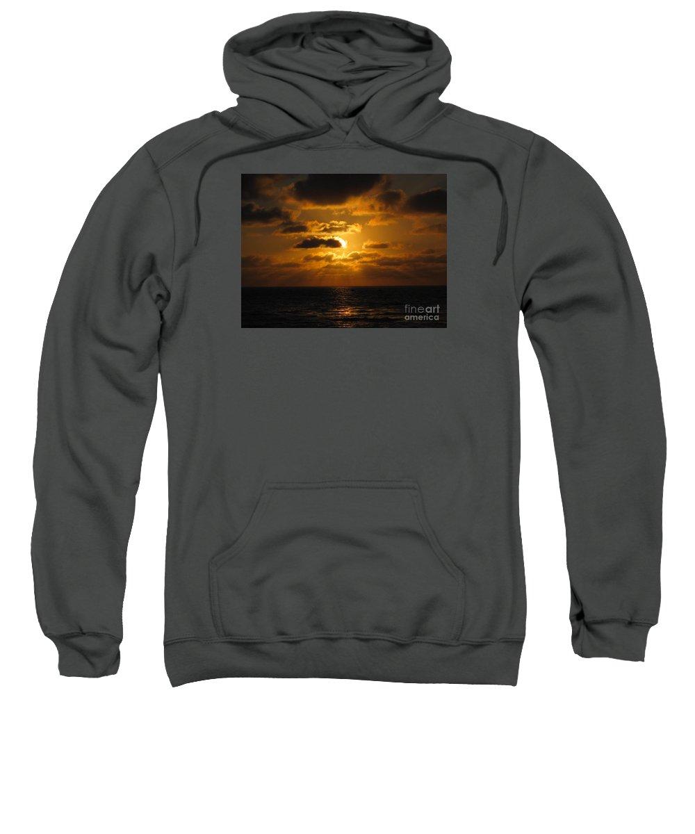 Sunset Sweatshirt featuring the photograph Golden Sunset by Marta Robin Gaughen