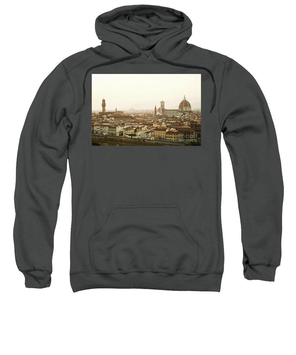 Sunset Sweatshirt featuring the photograph Golden Sunset Of Florence, Italy. by Antonio Gravante
