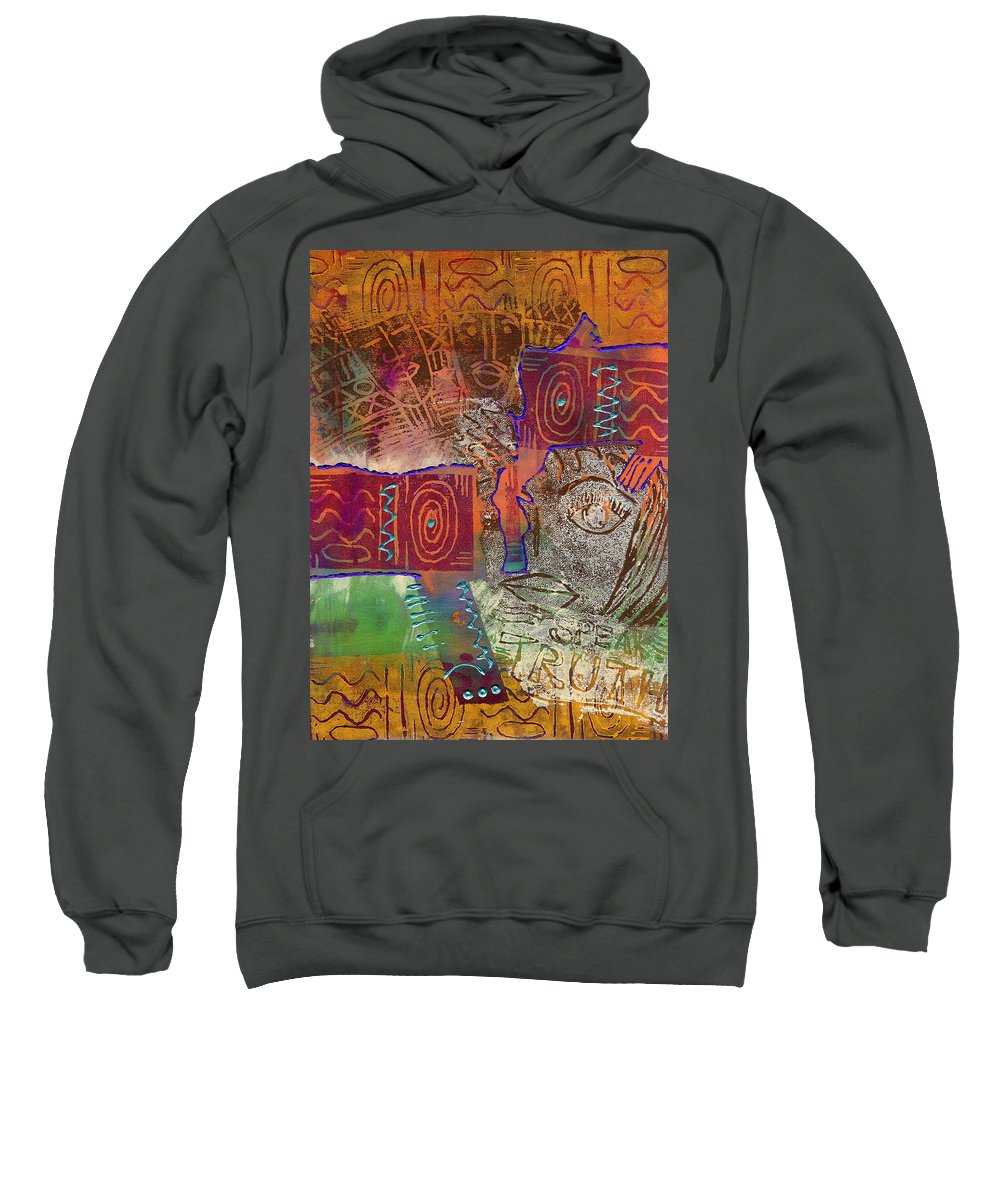Woman Sweatshirt featuring the painting Golden Truth by Angela L Walker