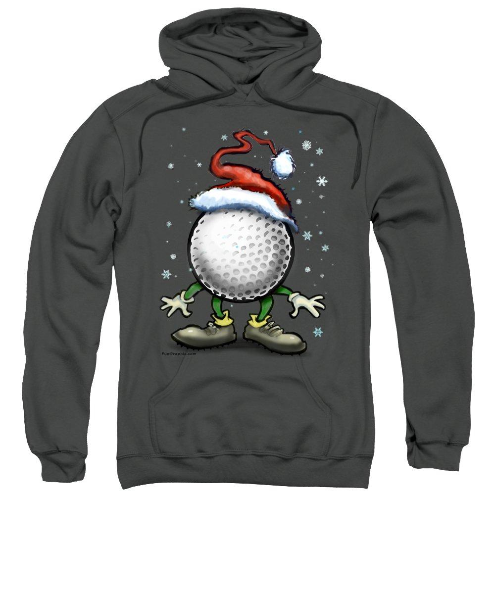 Golf Sweatshirt featuring the digital art Golf Christmas by Kevin Middleton