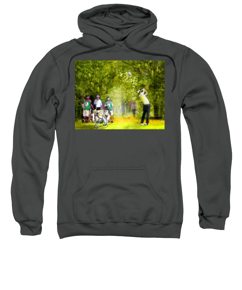 Golf Sweatshirt featuring the painting Golf Trophee Hassan II In Royal Golf Dar Es Salam Morocco 03 by Miki De Goodaboom