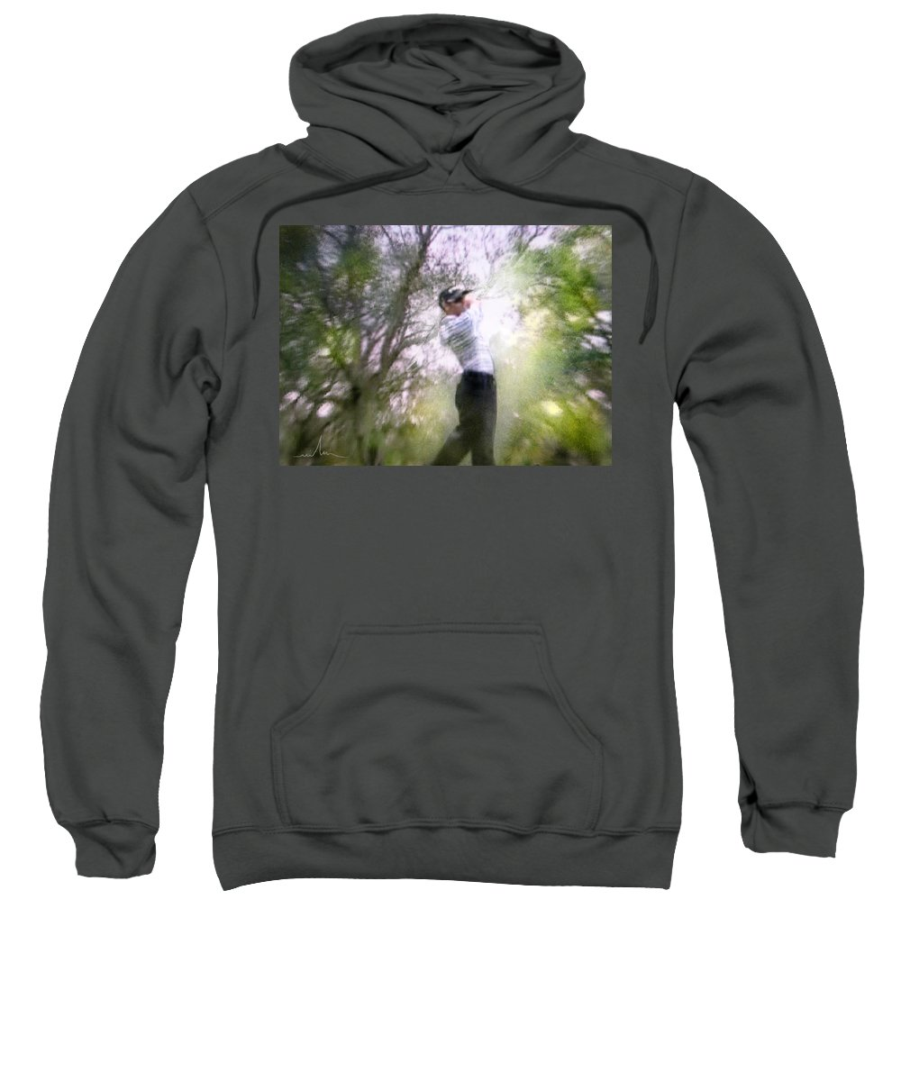 Golf Sweatshirt featuring the painting Golf Trophee Hassan II In Royal Golf Dar Es Salam Morocco 05 by Miki De Goodaboom