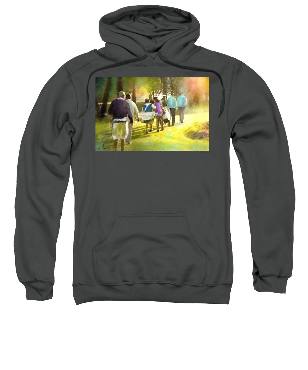 Golf Sweatshirt featuring the painting Golf Vivendi Trophy In France 04 by Miki De Goodaboom