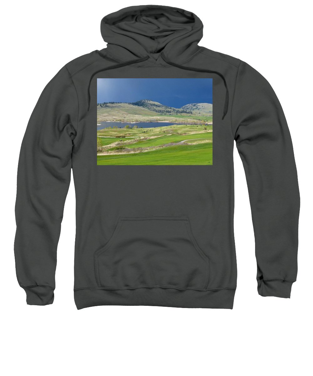 Golfing Sweatshirt featuring the photograph Golfing And Grazing by Will Borden