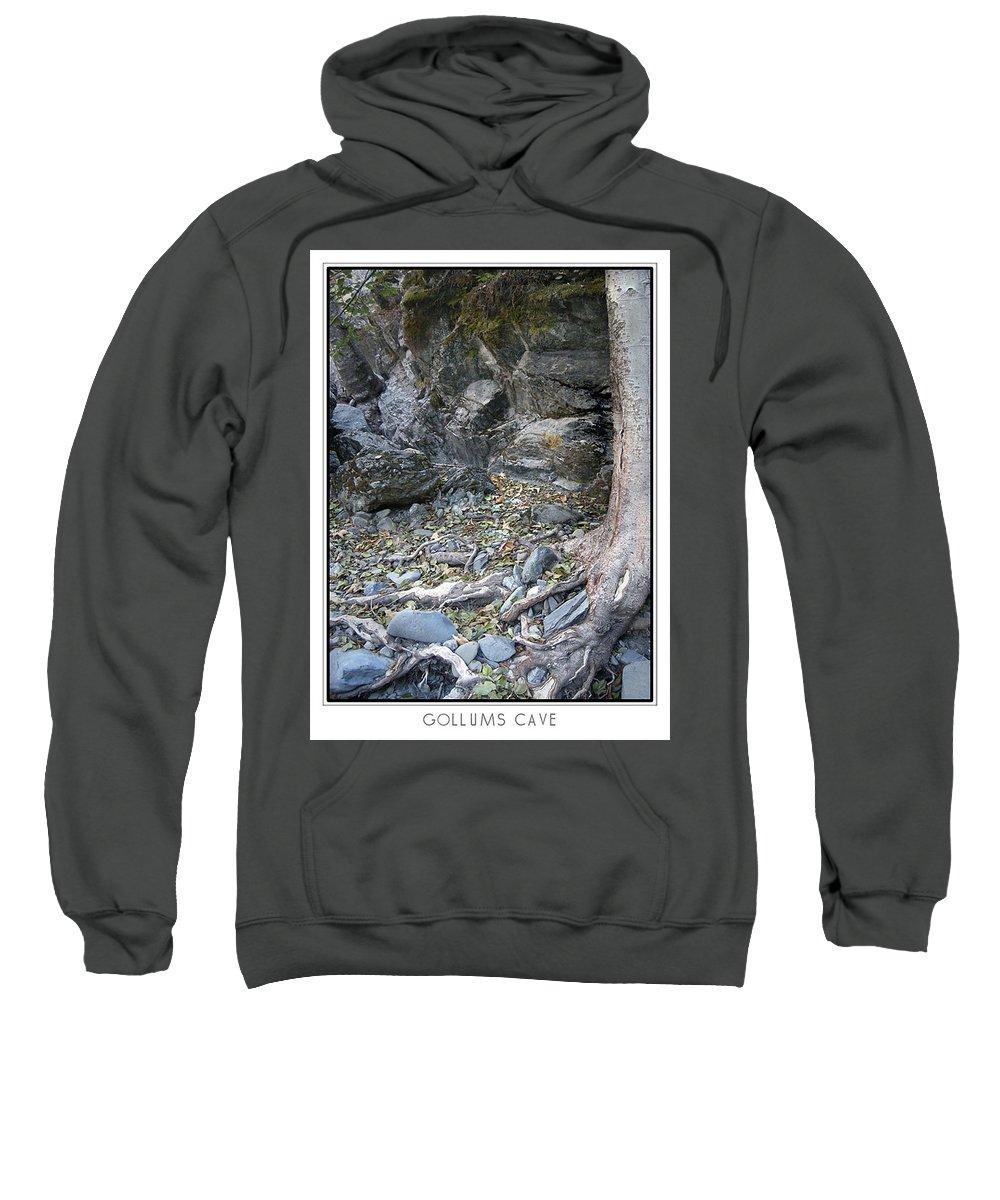 Trees Sweatshirt featuring the photograph Gollum's Cave by Karen W Meyer