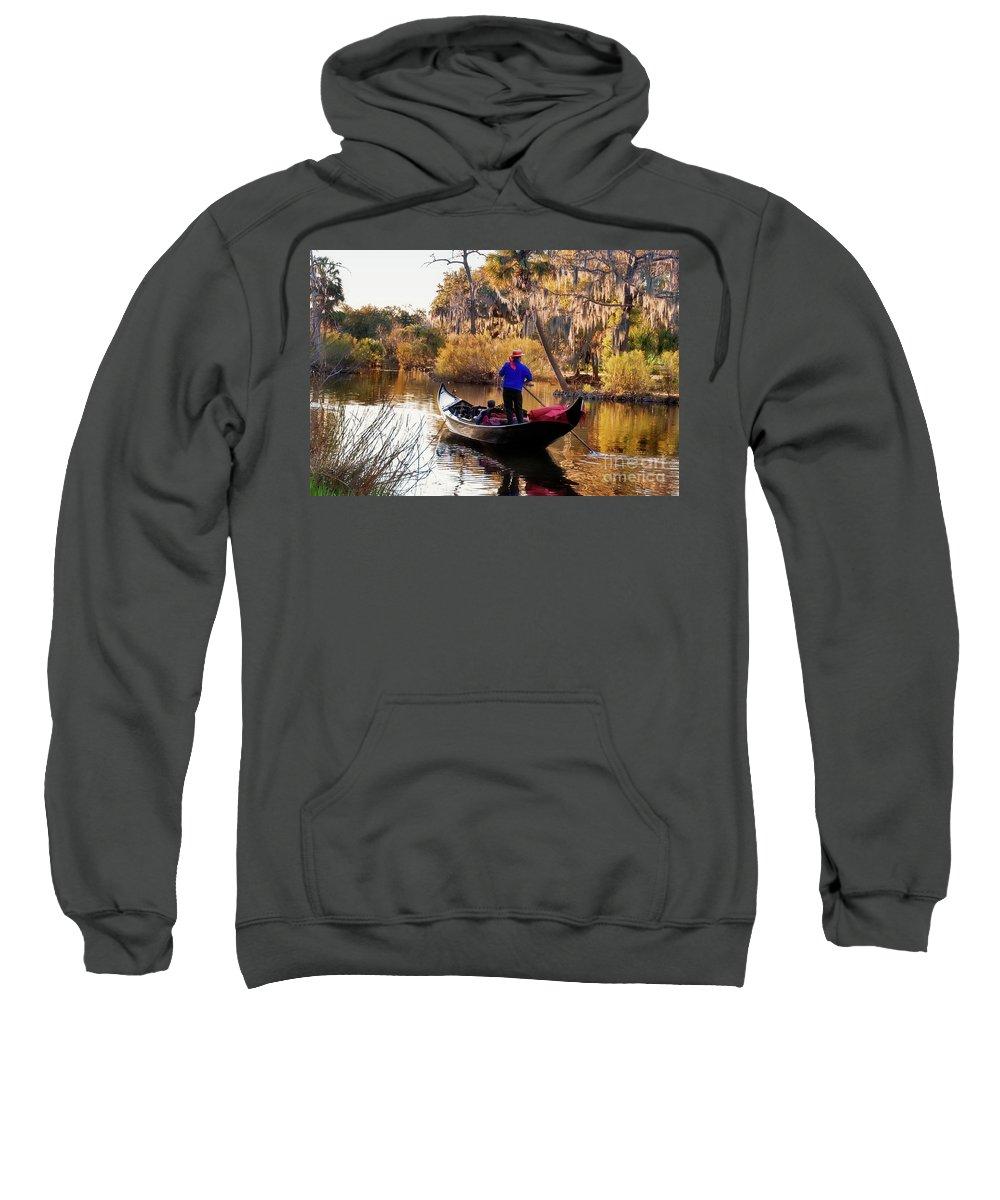 Gondola Sweatshirt featuring the photograph Gondola In City Park Lagoon New Orleans by Kathleen K Parker
