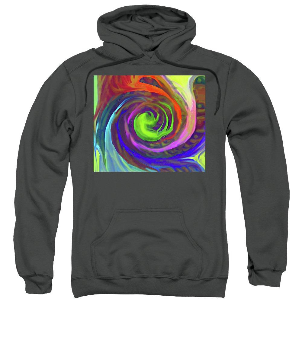 Abstract Sweatshirt featuring the digital art Gone by Ian MacDonald