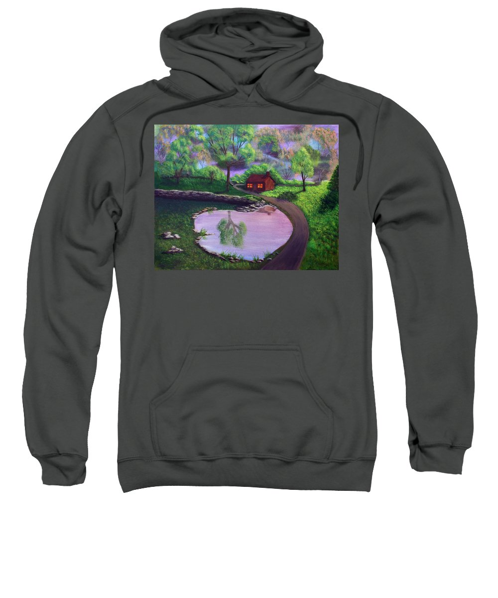 Light Sweatshirt featuring the painting Good Spring Morning by Dawn Blair