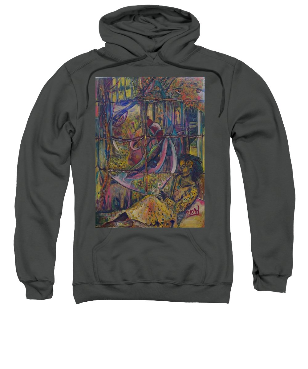 Mother Sweatshirt featuring the painting Goodbye Sweet Dreams by Peggy Blood