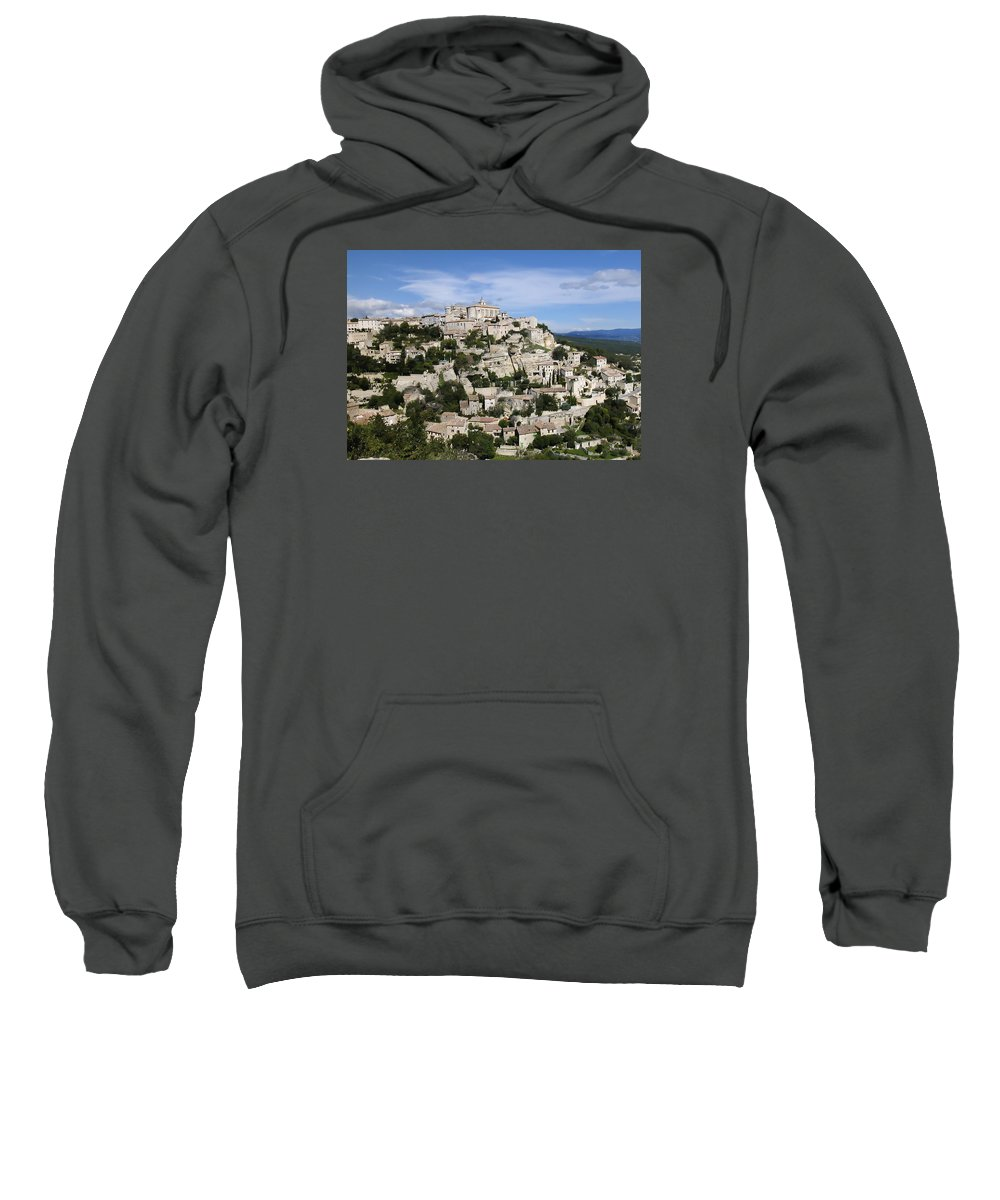 France Sweatshirt featuring the photograph Gordes Provence France by Alan Toepfer