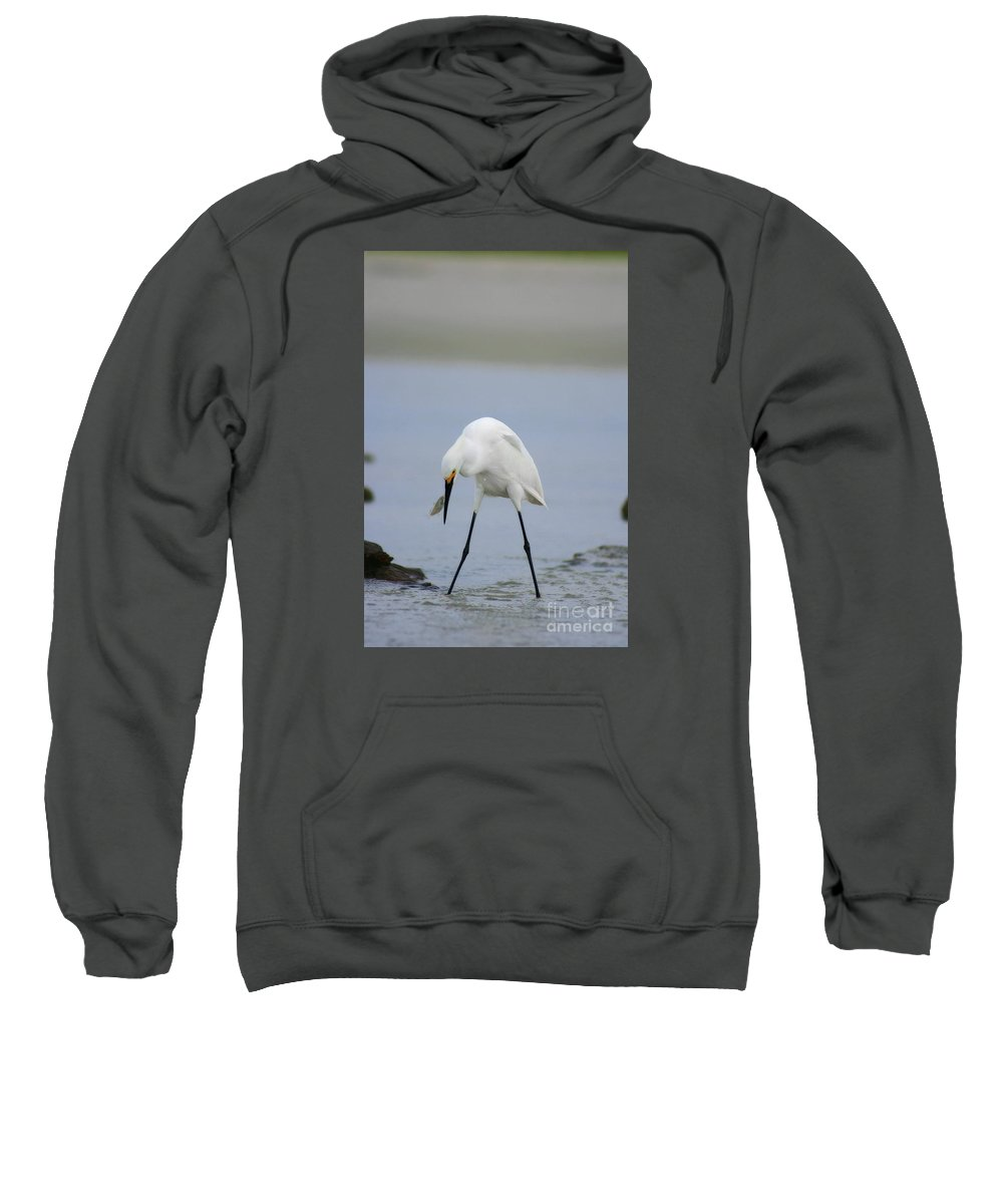 Sweatshirt featuring the photograph Got One by Angela Rath