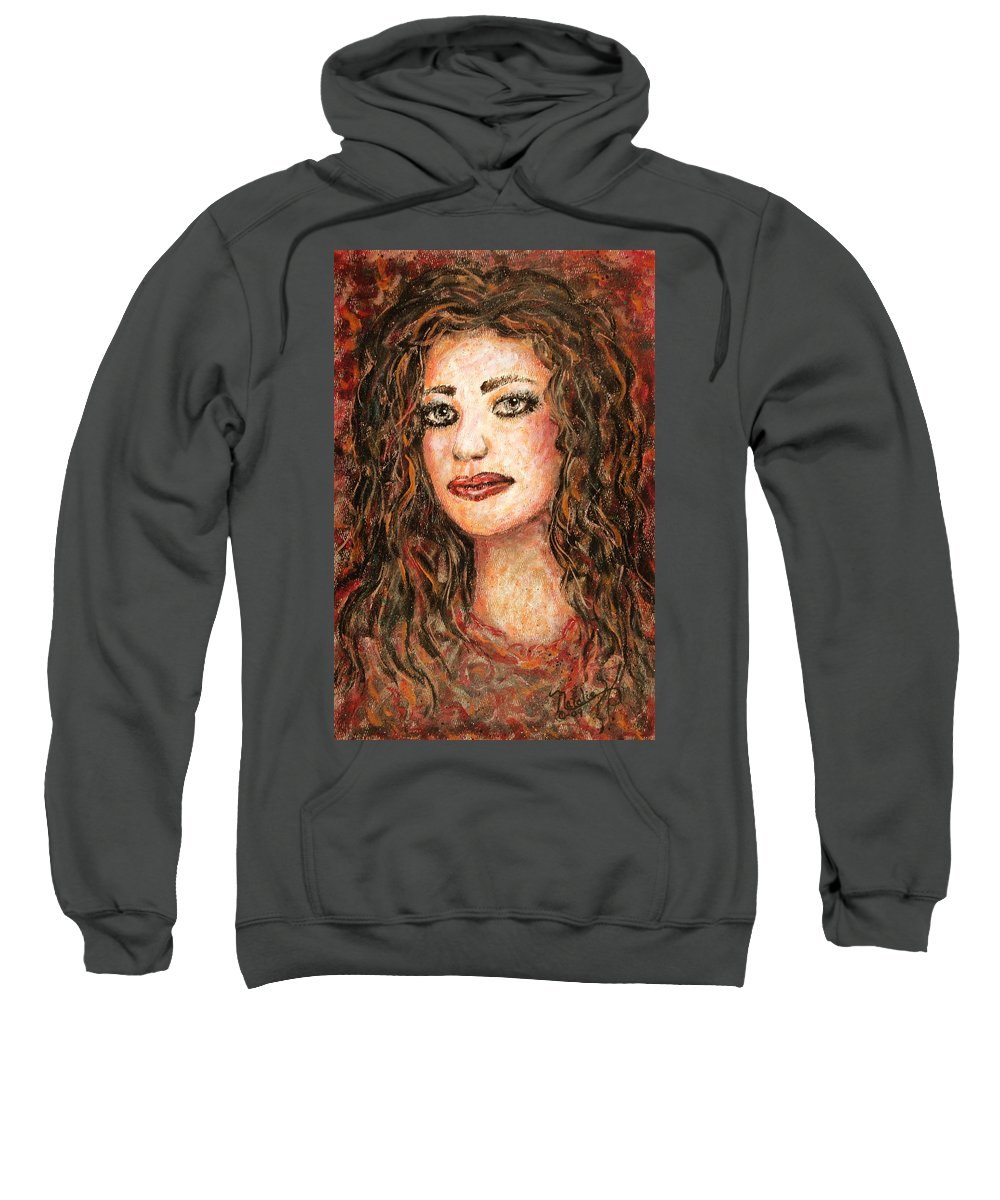 Grace Sweatshirt featuring the painting Grace by Natalie Holland