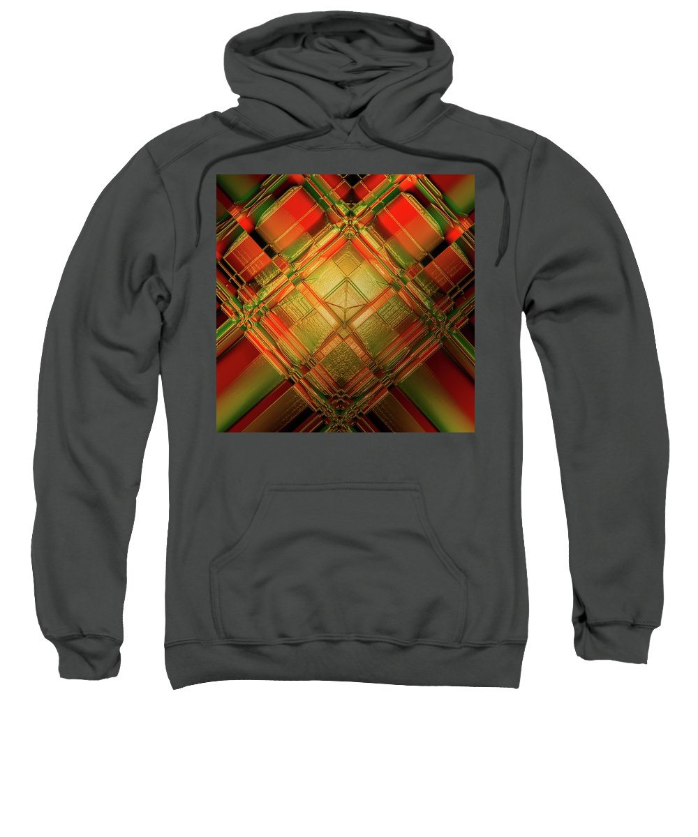 Digital Sweatshirt featuring the digital art Gradient Play by Andy Young