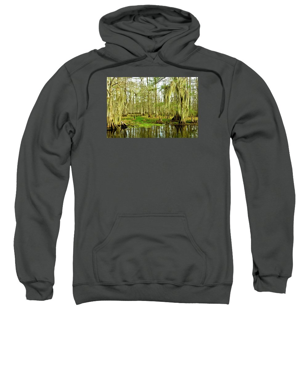 Swamp Sweatshirt featuring the photograph Grand Bayou Swamp by Scott Pellegrin