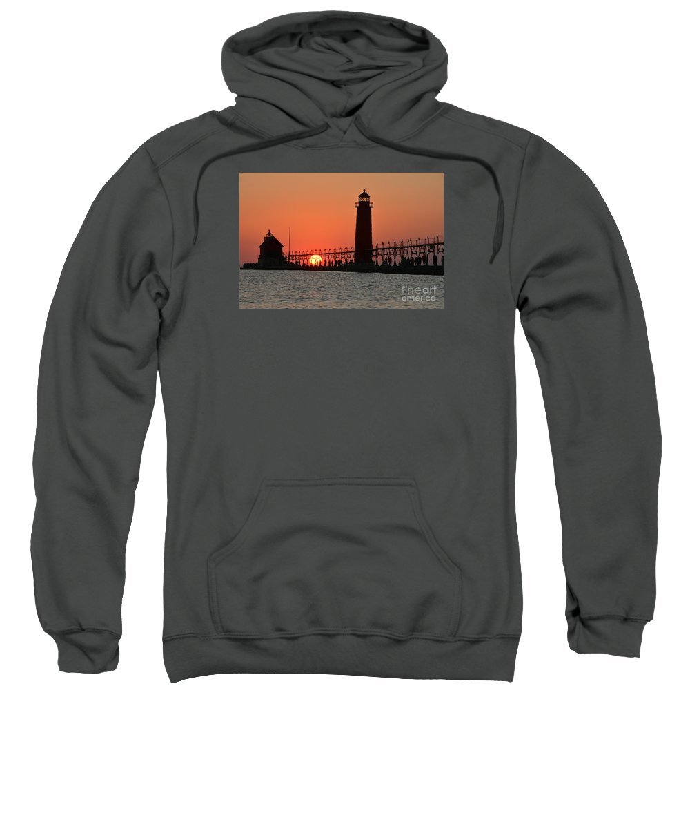 Lighthouse Sweatshirt featuring the photograph Grand Haven Lighthouse by Stephen Path