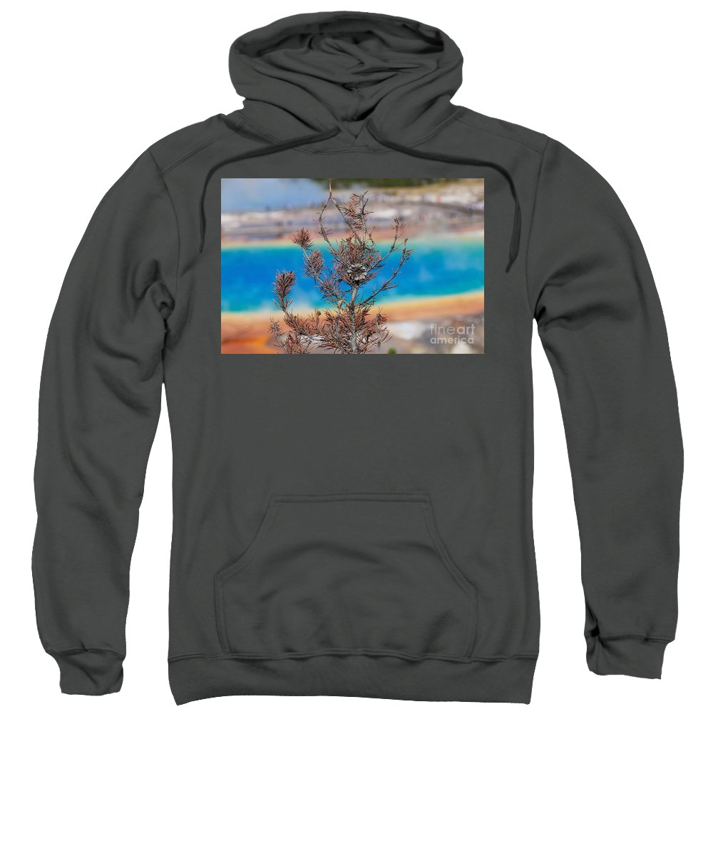 Grand Prismatic Sweatshirt featuring the photograph Grand Prismatic Wow by Phil Cappiali Jr