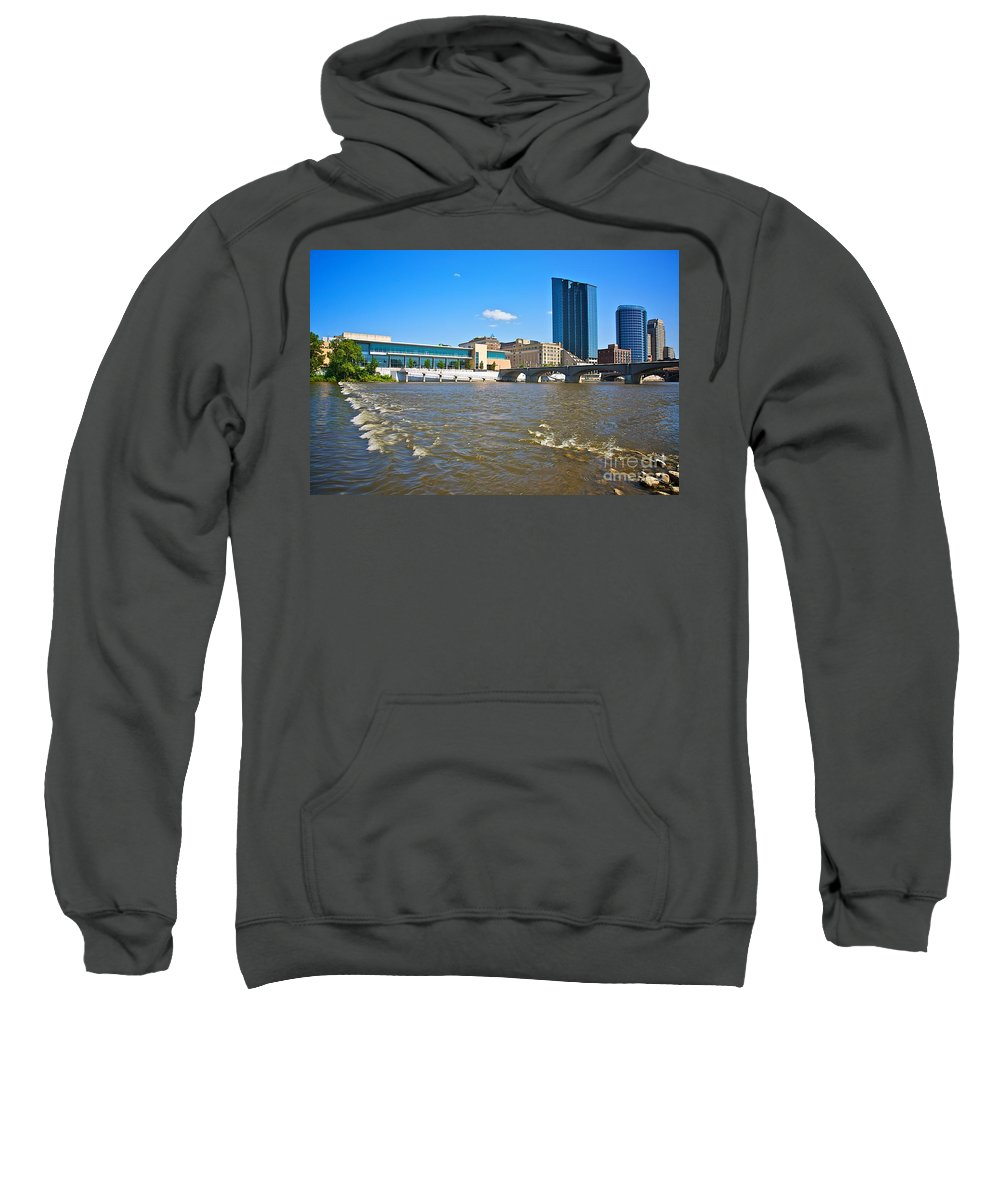City Sweatshirt featuring the photograph Grand Rapids Mi-6 by Robert Pearson