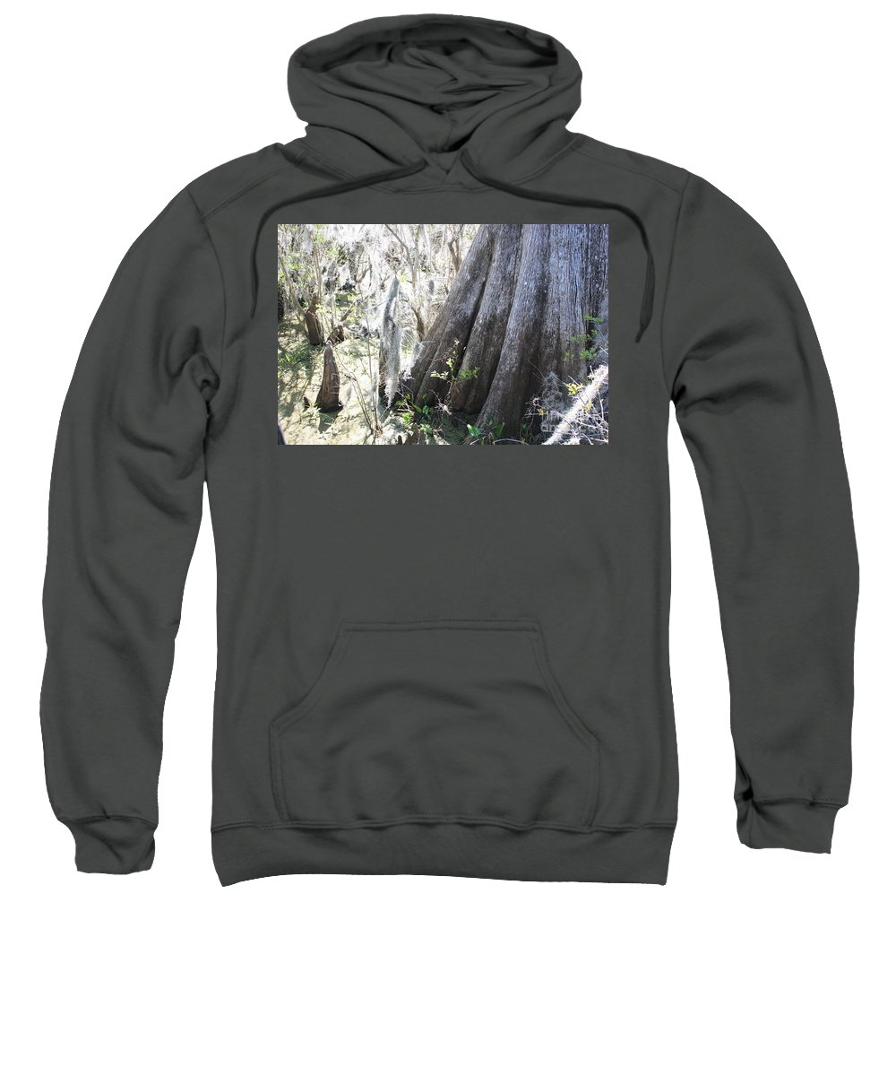 Old Cypress Sweatshirt featuring the photograph Grandfather Cypress by Carol Groenen