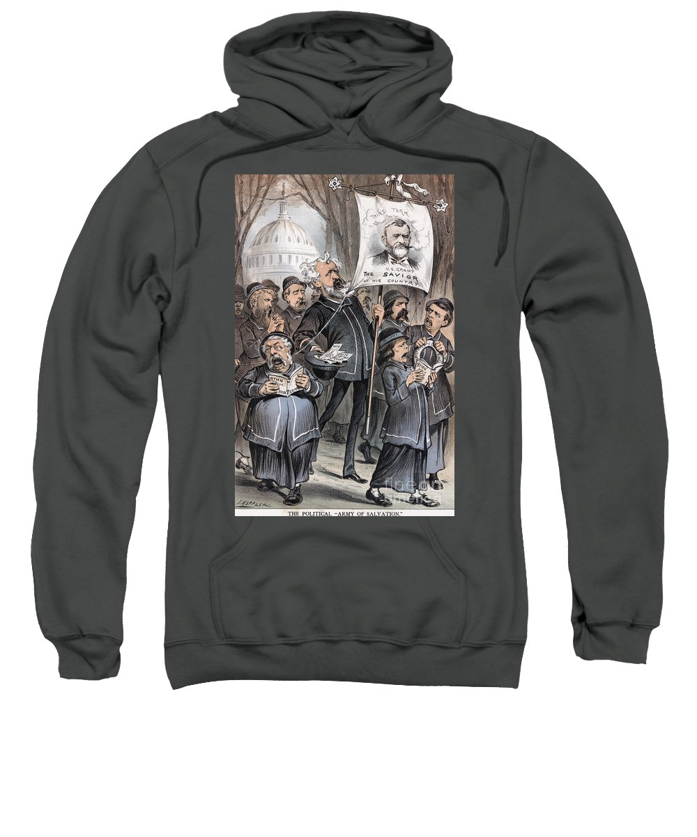 1880 Sweatshirt featuring the photograph Grant Cartoon, 1880 by Granger