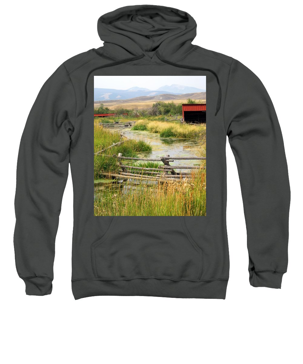 Ranch Sweatshirt featuring the photograph Grants Khors Ranch Vertical by Marty Koch