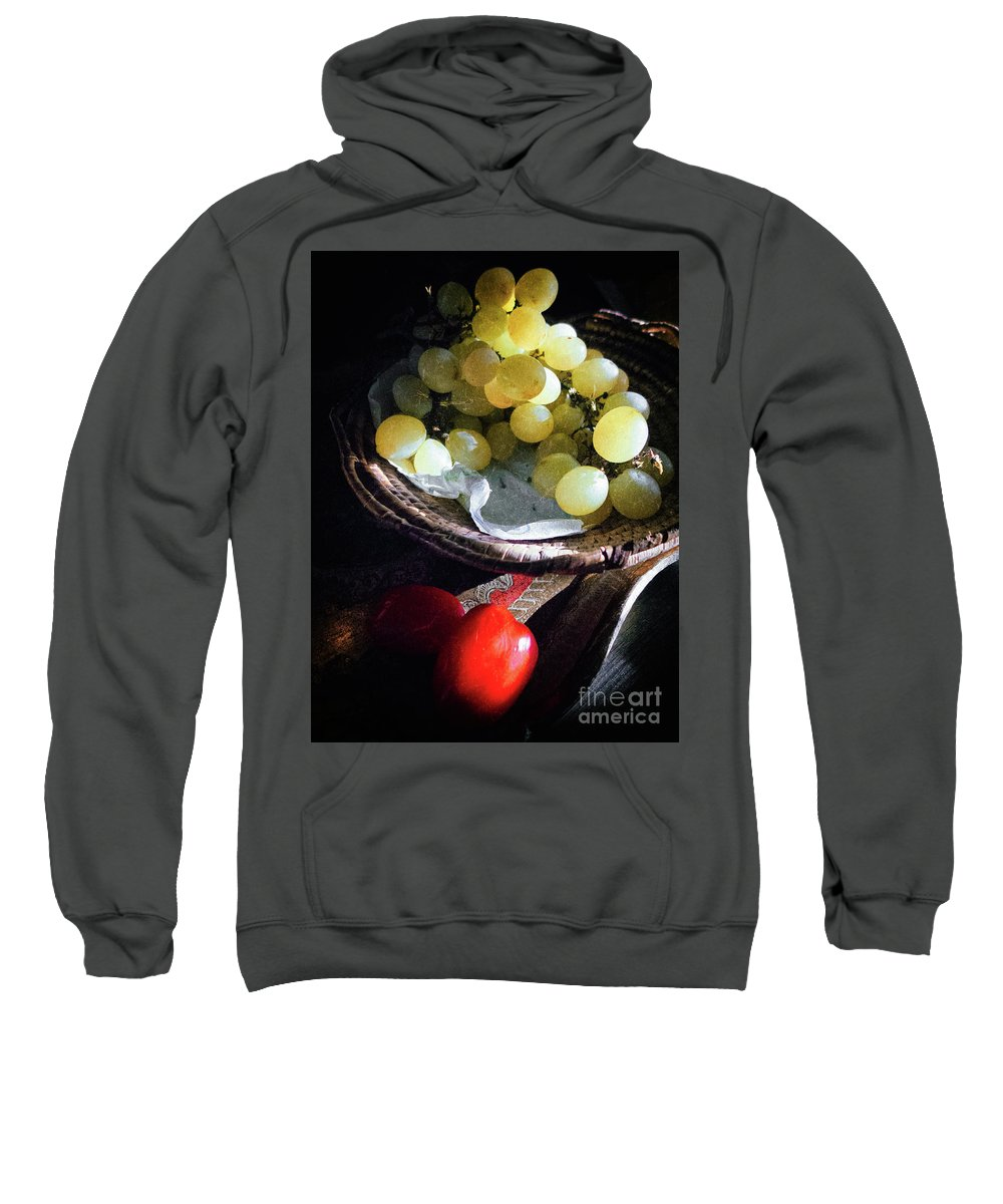Fruit Sweatshirt featuring the photograph Grapes And Tomatoes by Silvia Ganora