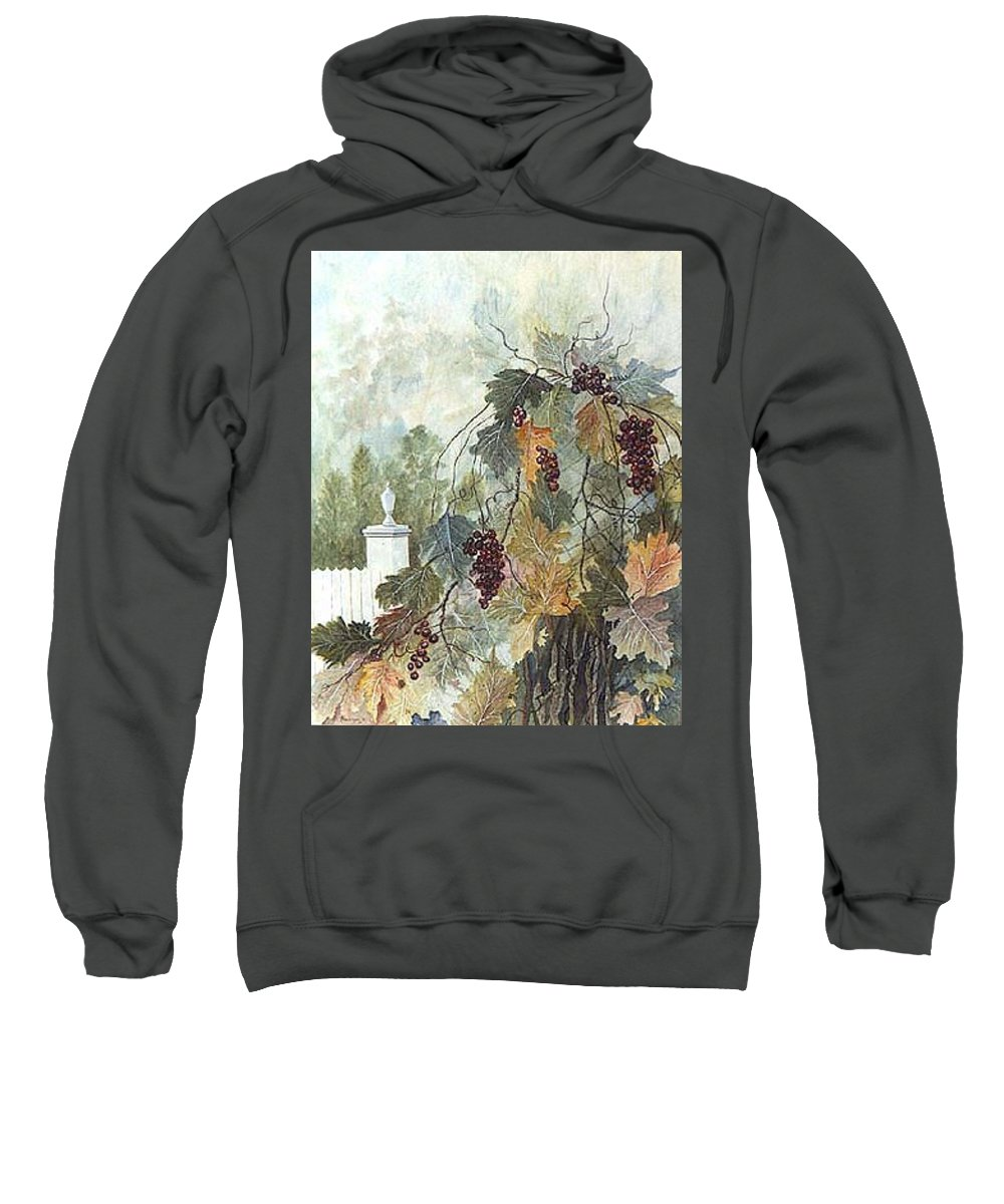 Fruit Sweatshirt featuring the painting Grapevine Topiary by Ben Kiger