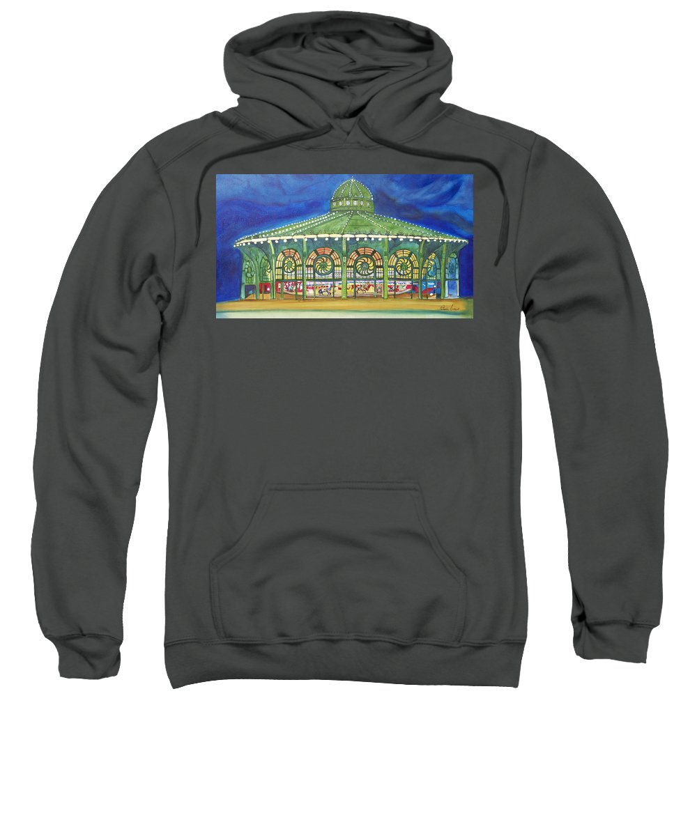 Night Paintings Of Asbury Park Sweatshirt featuring the painting Grasping The Memories by Patricia Arroyo