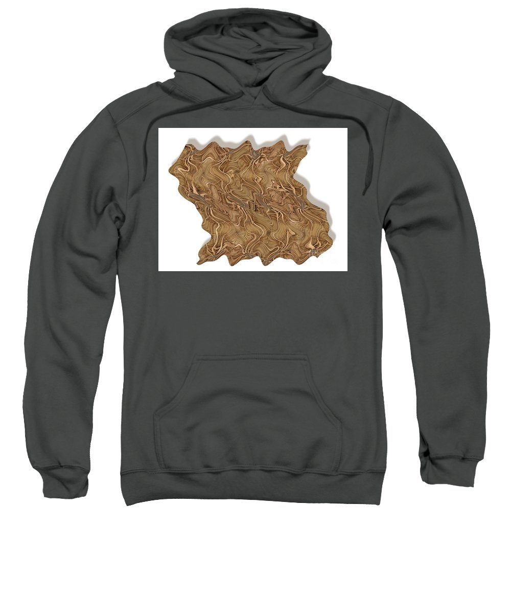 Abstract Sweatshirt featuring the digital art Grass Works by Ron Bissett
