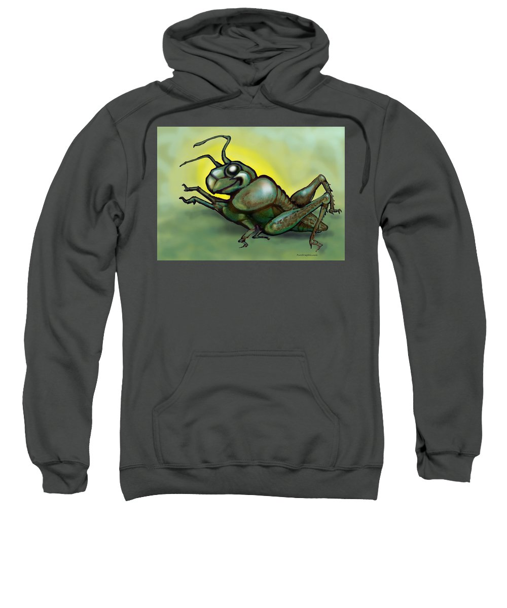 Grasshopper Sweatshirt featuring the greeting card Grasshopper by Kevin Middleton