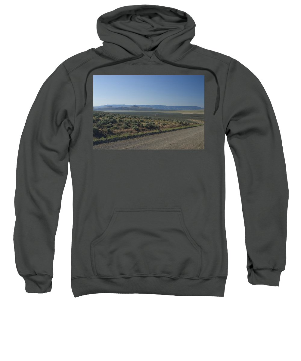 Gravel Sweatshirt featuring the photograph Gravel Road by Sara Stevenson