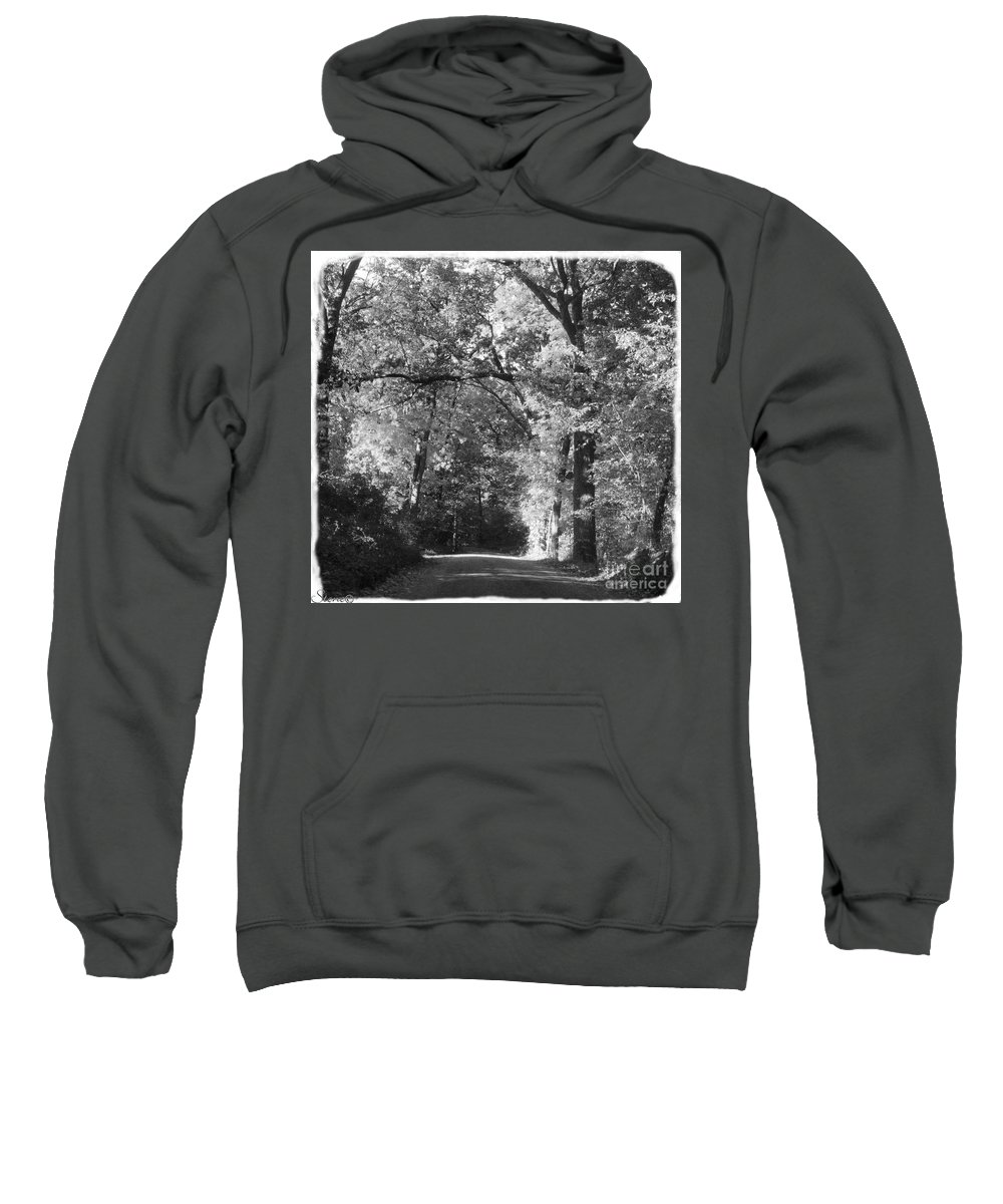 Back Sweatshirt featuring the photograph Graves Rd by September Stone