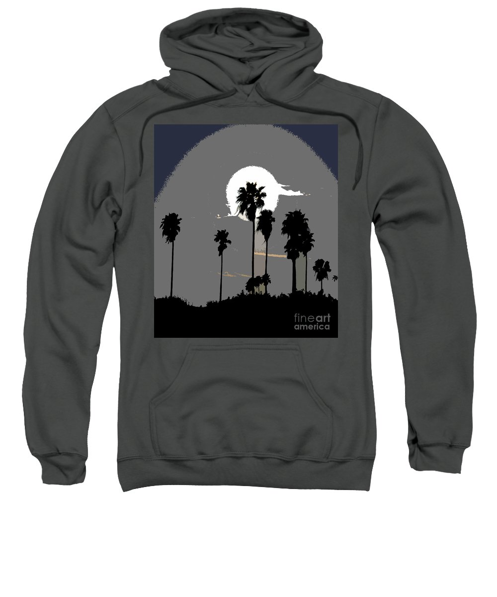Palms Sweatshirt featuring the painting Gray Palms by David Lee Thompson
