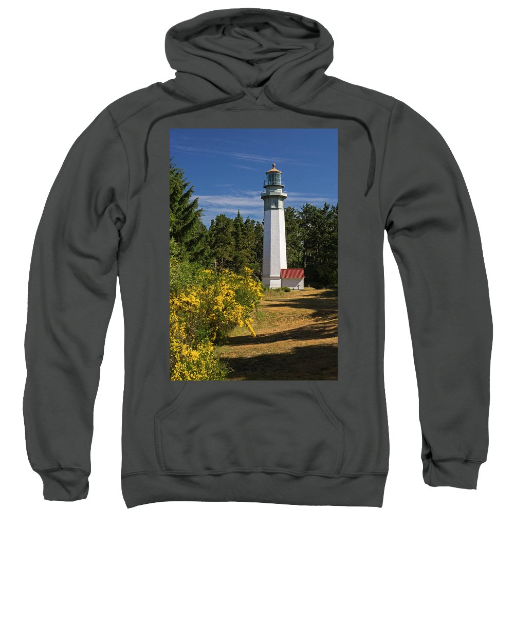 Grays Harbor Lighthouse Sweatshirt featuring the photograph Grays Harbour Lighthouse V by Inge Riis McDonald