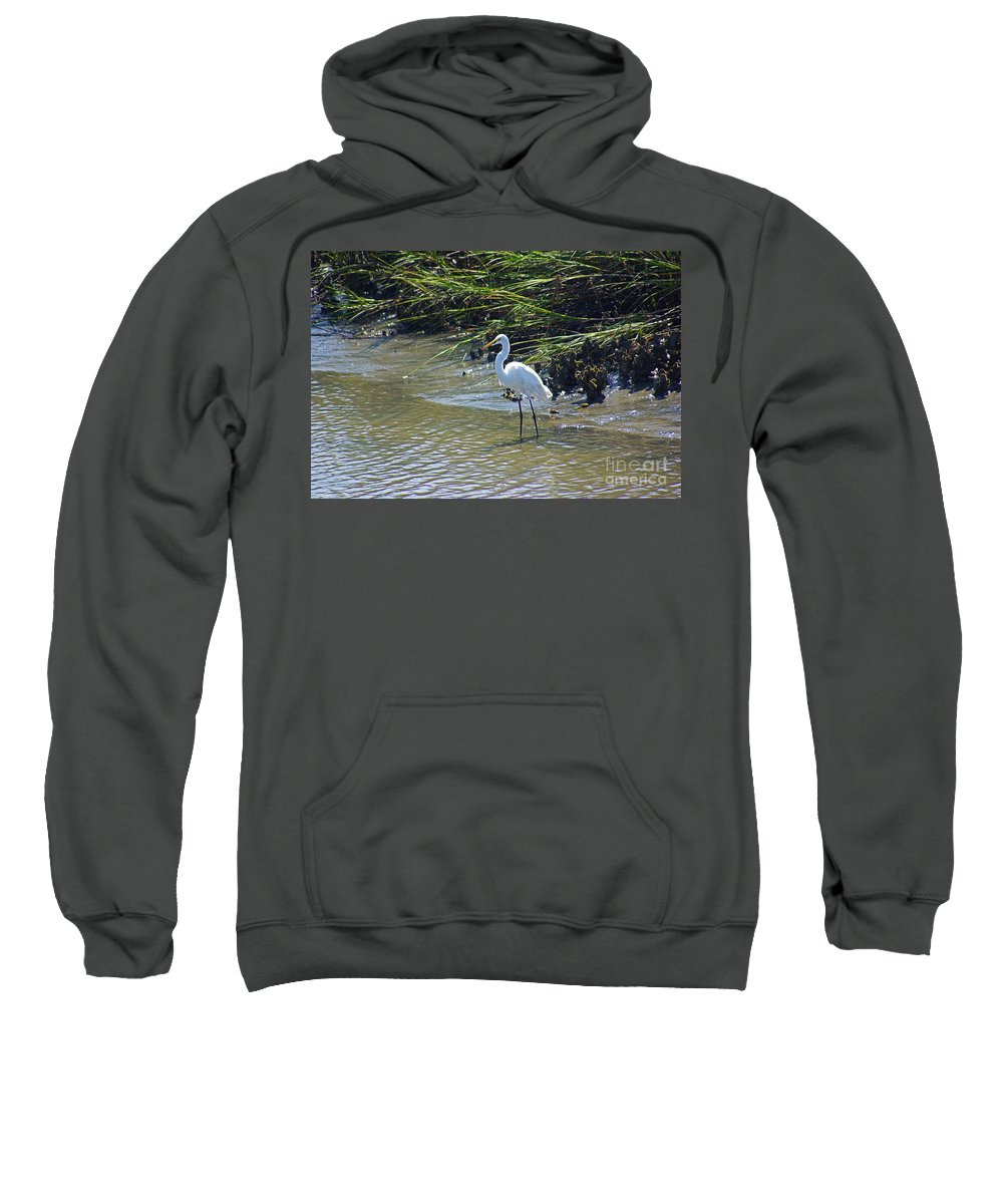 South Carolina Sweatshirt featuring the photograph Great Egret by Rich Walter