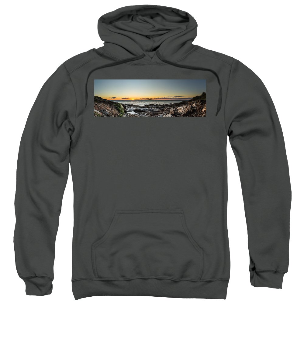 Landscape Sweatshirt featuring the photograph Great Head Beach Sunrise by Brent L Ander