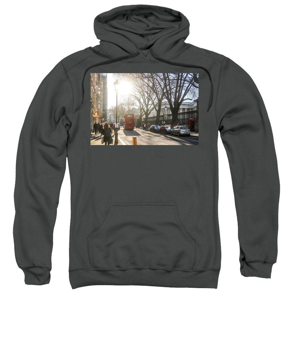London Sweatshirt featuring the photograph Great Russell St. In The Afternoon by Sam Garcia
