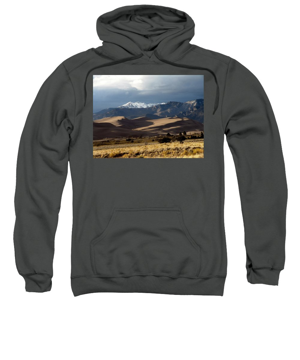 Sand Sweatshirt featuring the photograph Great Sand Dunes National Park by Carol Milisen