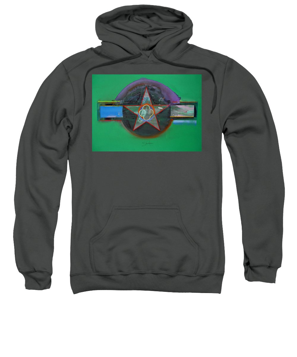 Star Sweatshirt featuring the painting Green And Violet by Charles Stuart